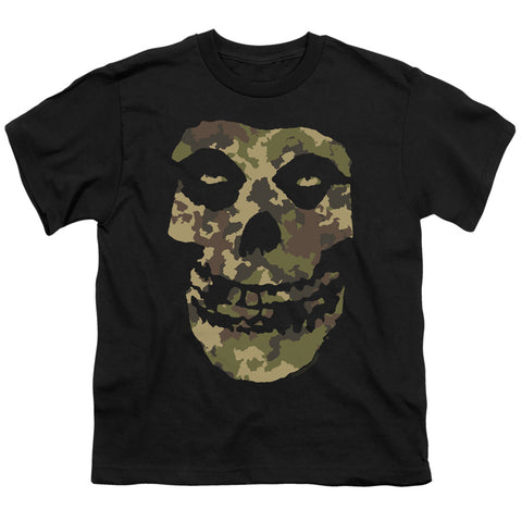 Misfits Camo Skull Youth 18/1 100% Cotton SS T