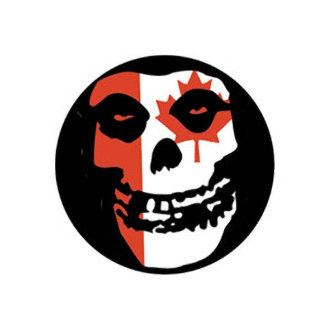 Misfits Canadian Skull Button