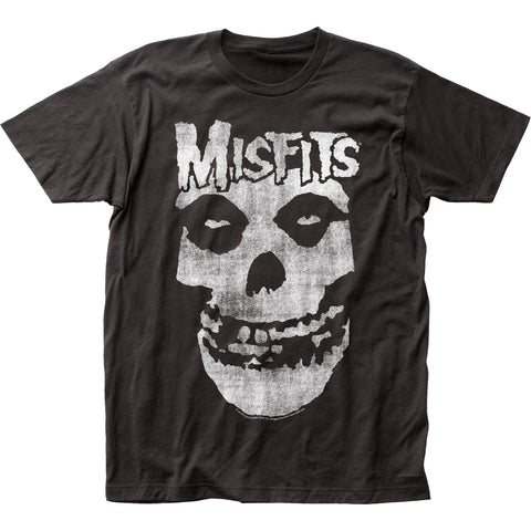 Misfits Distressed Skull fitted jersey tee