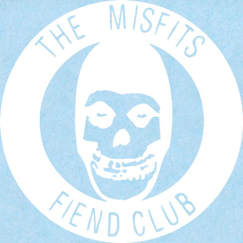 Misfits Fiend Club Rub-on Sticker - White
