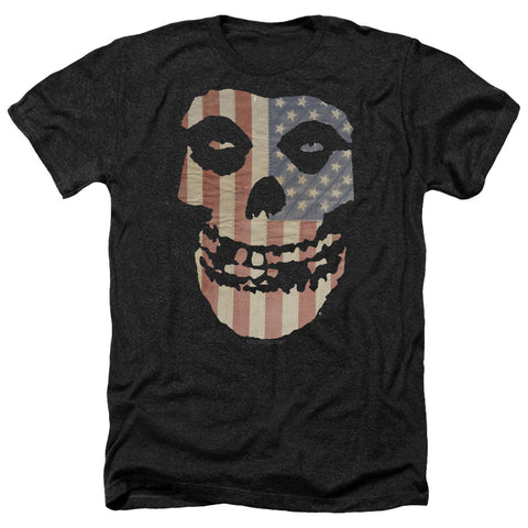 Misfits Special Order Fiend Flag Men's 30/1 Heather 60% Cotton 40% Poly Short-Sleeve T-Shirt