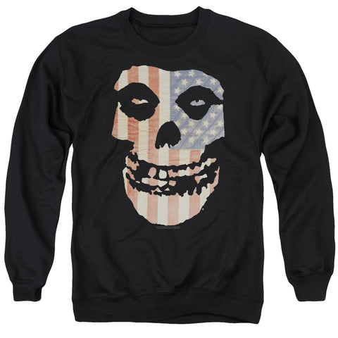 Misfits Special Order Fiend Flag Men's Crewneck 50% Cotton 50% Poly Long-Sleeve Sweatshirt