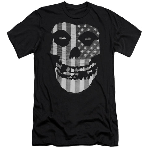 Misfits Special Order Fiend Flag Men's Premium Ultra-Soft 30/1 100% Cotton Slim Fit T-Shirt - Eco-Friendly - Made In The USA