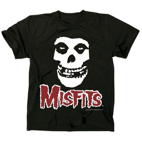 Misfits Fiend Skull Red Logo Men's T-Shirt