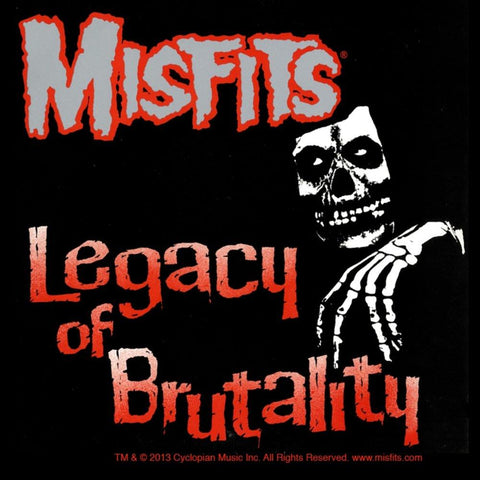 Misfits Legacy Of Brutality Woven Patch