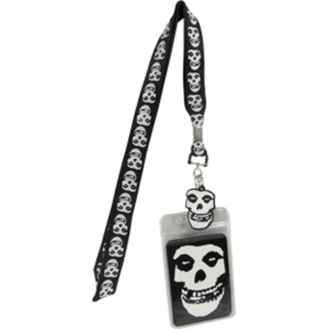Misfits Glow In the Dark Skull Lanyard