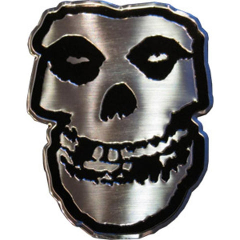 Misfits Skull Silver Metal Sticker - Large