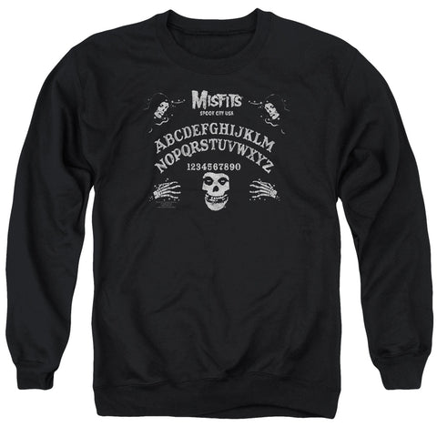 Misfits Special Order Ouija Board Men's Crewneck 50% Cotton 50% Poly Long-Sleeve Sweatshirt