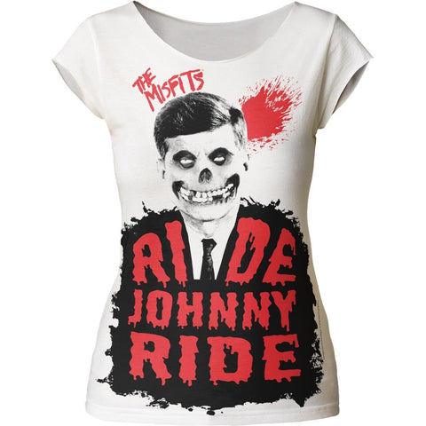 Misfits Ride Johnny Ride Women's Tapered T-Shirt