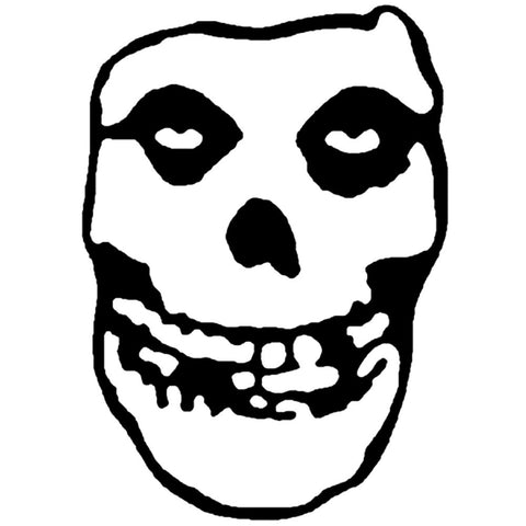 Misfits Skull Rub-On Sticker - Black