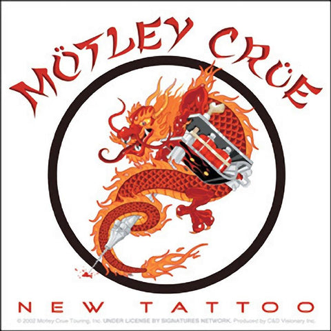 Motley Crue Chinese Dragon New Tattoo Logo Sticker