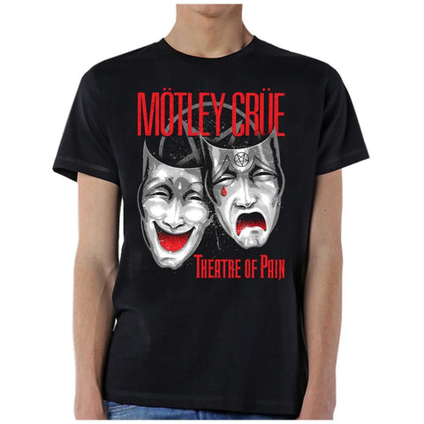 Motley Crue Theatre of Pain Cry Men's Black T-Shirt