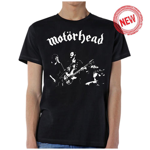 Motorhead 1977 photo tee Men's Black T-Shirt