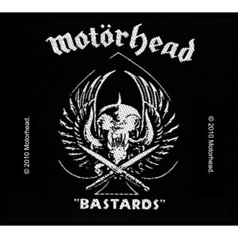 Motorhead Bastards Woven Sew-on Patch