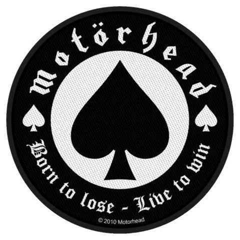 Motorhead Born To Lose Woven Sew-on Patch