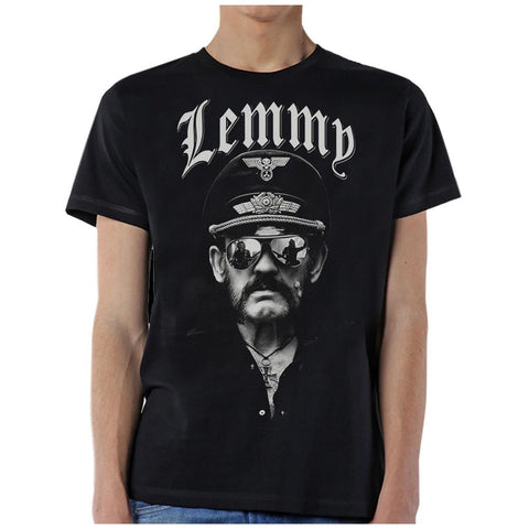 Motorhead Lemmy with Sunglasses Men's Black T-Shirt