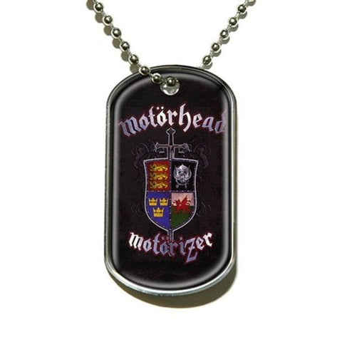 Motorhead Motorizer Aluminum Dog Tag Necklace