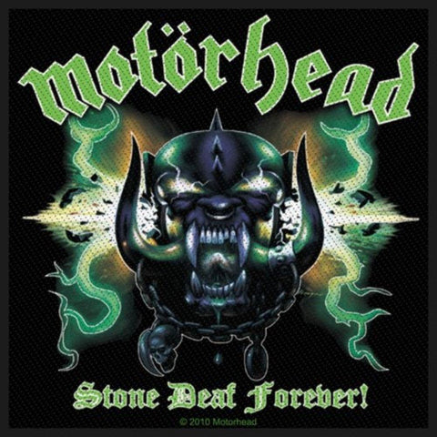 Motorhead Stone Deaf Forever Woven Sew-on Patch
