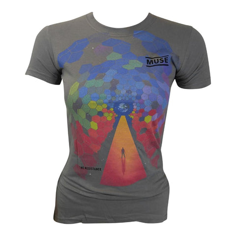 Muse Bleach Cover Women's Tapered T-Shirt