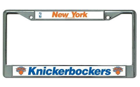 New York Knicks Chrome License Plate Frame