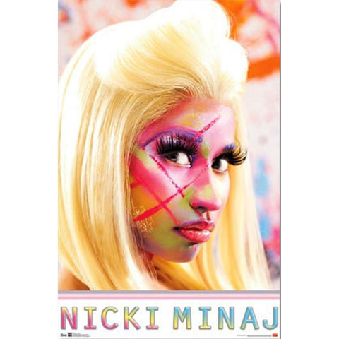 Nicki Minaj Face Paint Poster