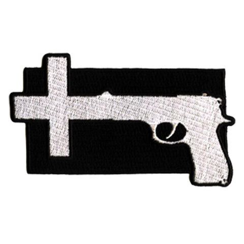 Nine Inch Nails Gun Cross Embroidered Patch