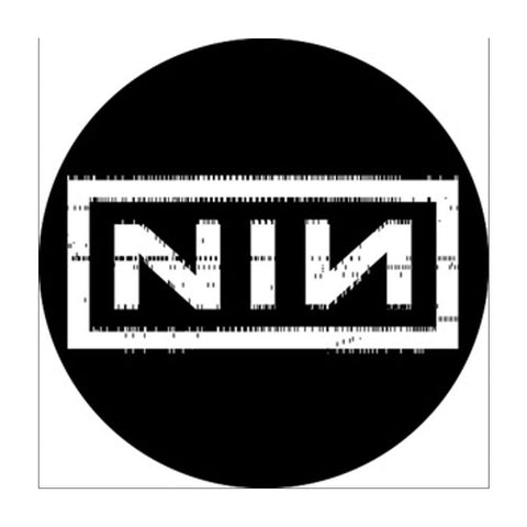 Nine Inch Nails Punchcard Button