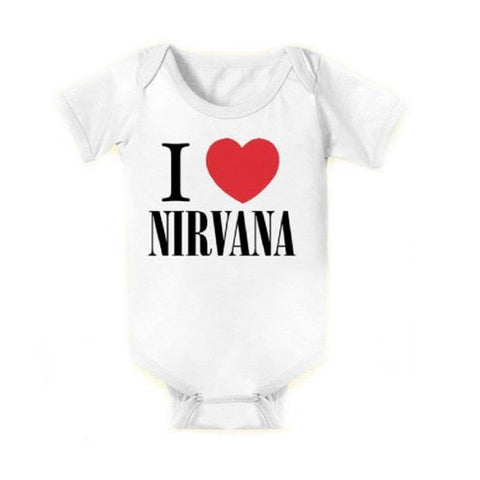 Nirvana I Love Nirvana One-Piece Bodysuit