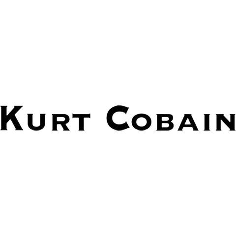 Nirvana Kurt Cobain Logo Rub-On Sticker - Black