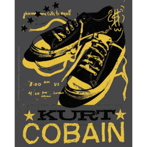 Nirvana Kurt Cobain Tennis Shoes Sticker