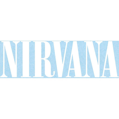 Nirvana Logo Rub-On Sticker - White