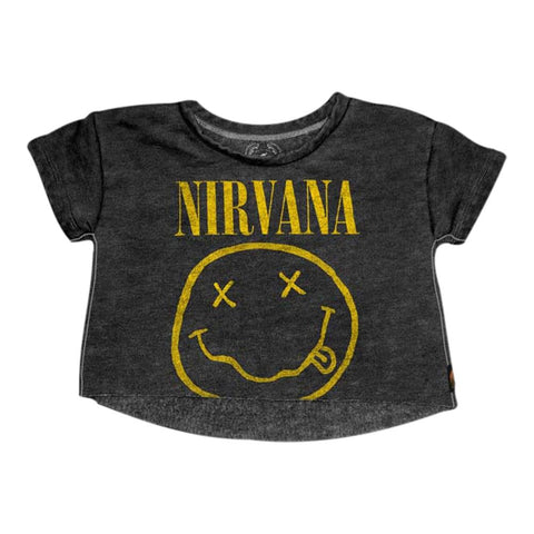 Nirvana Smiley Crop Toddler T-Shirt