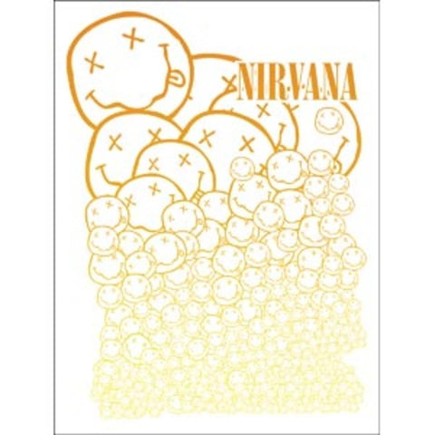 Nirvana Smiley Faces Sticker