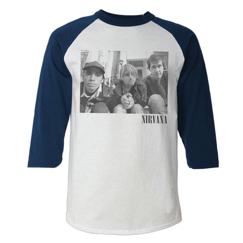 Nirvana Stairs Box Photo Men's 3/4 Sleeve Raglan T-Shirt