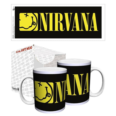 Nirvana Tongue Yellow Logo Boxed Mug