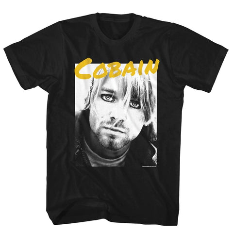 Nirvana Yellow Cobain Photo Men's T-Shirt