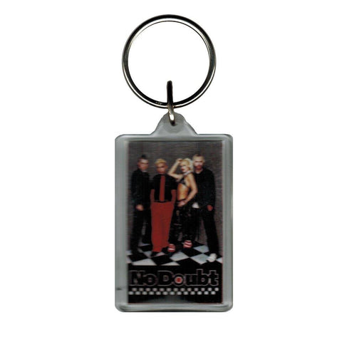 No Doubt Band Photo Lucite Rectangle Keychain