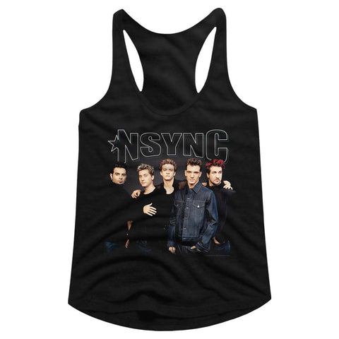 Nsync Special Order Stark Group Shot Ladies Racerback