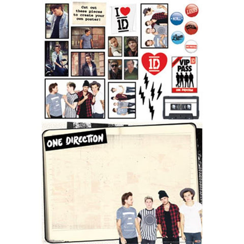 One Direction Collage Wall Poster