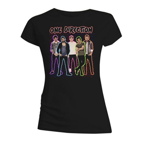 One Direction Neon Standing Women's Premium Soft T-Shirt