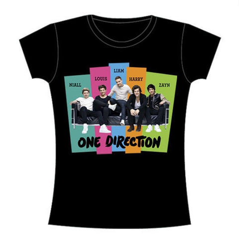 One Direction Stripes Sofa Group Women's Premium Soft T-Shirt