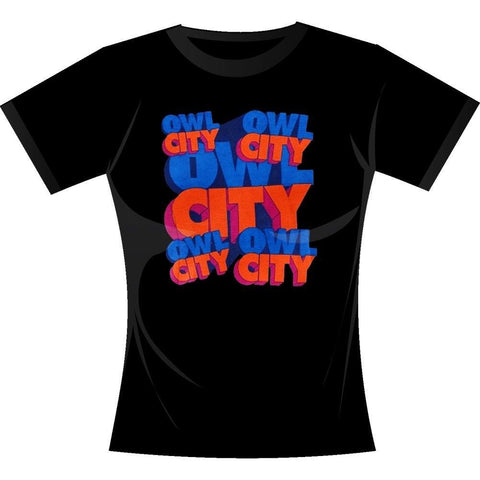 Owl City Block Letters Women's T-Shirt