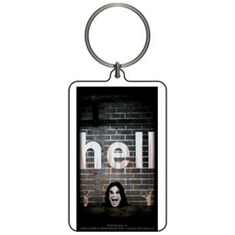 Ozzy Osbourne Ozzy With Cross Lucite Keychain