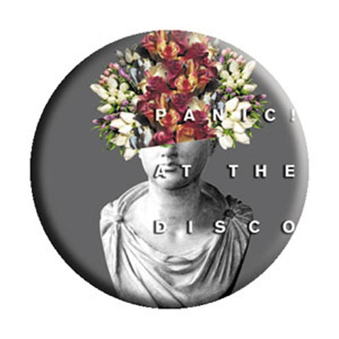 Panic At The Disco Flower Head Button
