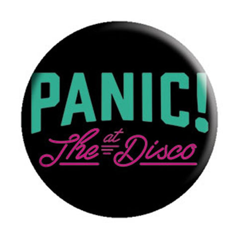 Panic At The Disco Black Logo Button
