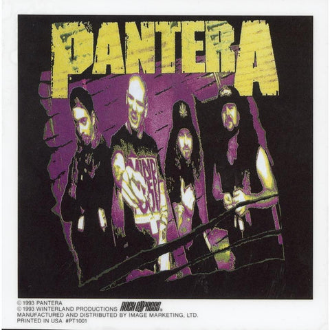 Pantera Purple Static Sticker Sticker
