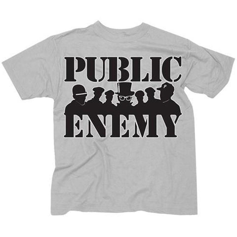 Public Enemy Group Siloutte Men's T-Shirt