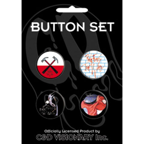 Pink Floyd Assorted Button Set