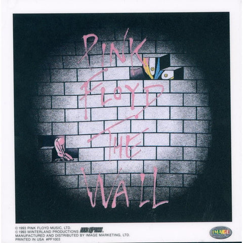 Pink Floyd Bricks Static Sticker Sticker