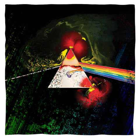 Pink Floyd Special Order Dark Side Of The Moon 100% Polyester Bandana - 21 x 21 inches - 1-Sided